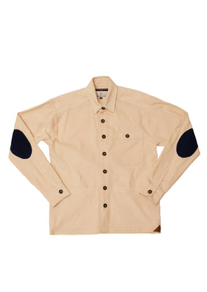 BEE X Spoke & Stringer - LS Overshirt Beige