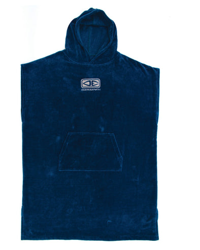 Ocean & Earth - Corp Hooded Poncho Deep Blue