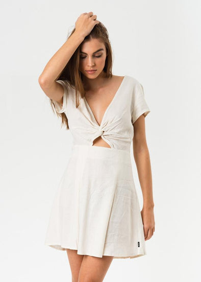 Afends - Cabarita Hemp Dress - Antique White