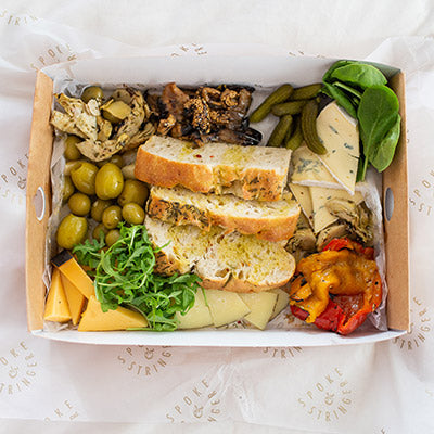 Antipasti, Cheese, Olives, Pickles With Bread & Oil