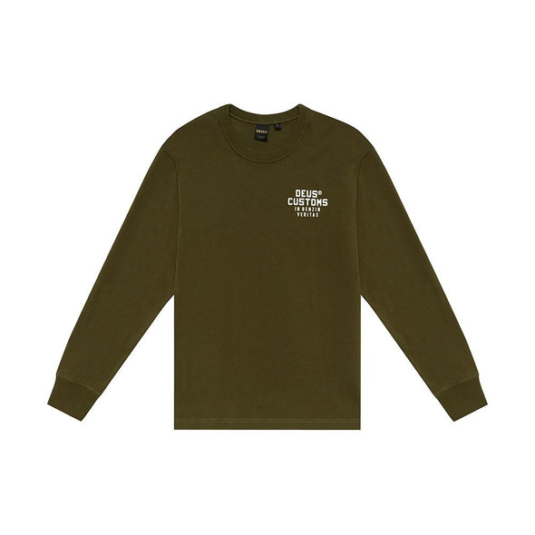 Deus Ex Machina - Octane Reignbow Crew Forest Green