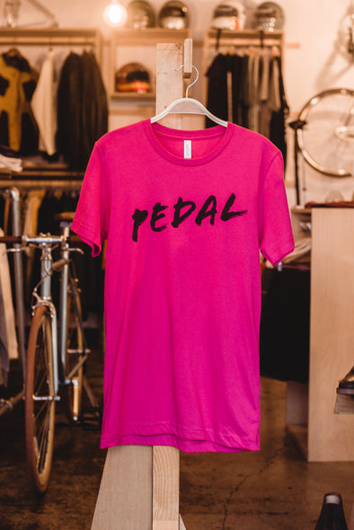 Spoke & Stringer - PEDAL Tee - Pink