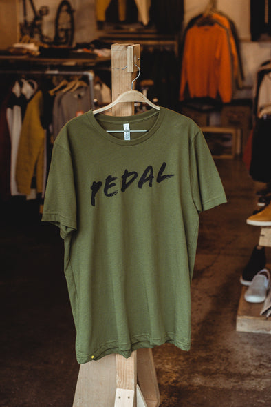 Spoke & Stringer - PEDAL Tee - Olive