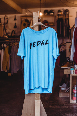 Spoke & Stringer - PEDAL Tee - Blue