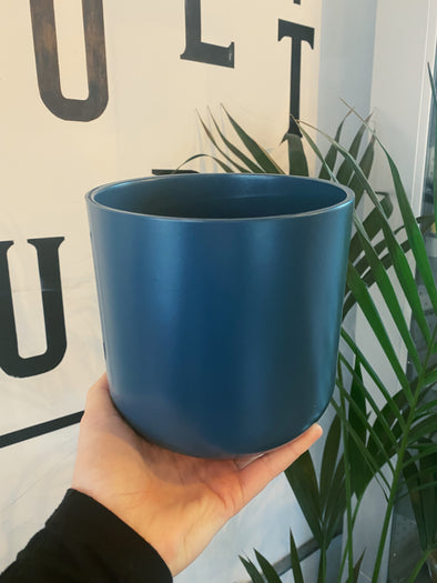 Teal Matte Ivyline Pot - 15cm