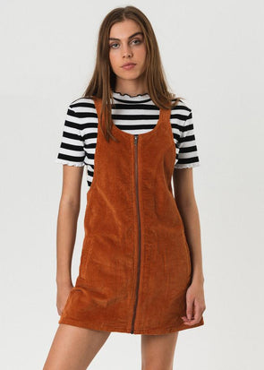 Afends - Jordan Pinafore Dress - Spice