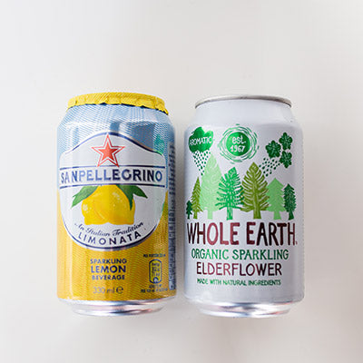 Selection of Soft Drinks i.e Lemonade / Elderflower Cans