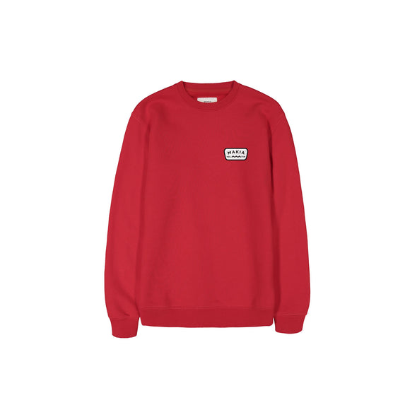 Makia - Emblem Sweatshirt - Red