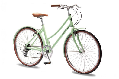 FOFFA -  Plume Ladies Lightweight Bicycle (Mint Green)