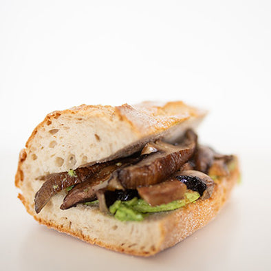 Portobello Mushroom Avocado + Chilli Jam Sarnies