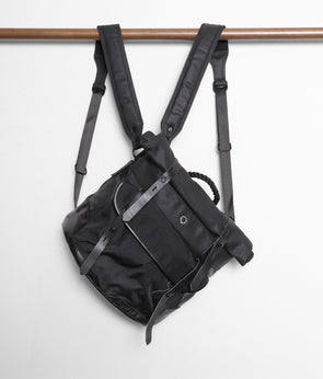 Stighlorgan - Raan Mid - Rolltop Shoulder Bag / Backpack - BLACK on BLACK