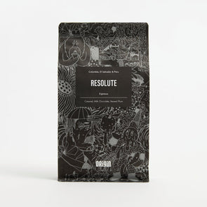 Ground Espresso Beans - Origin Coffee - Resolute 250g