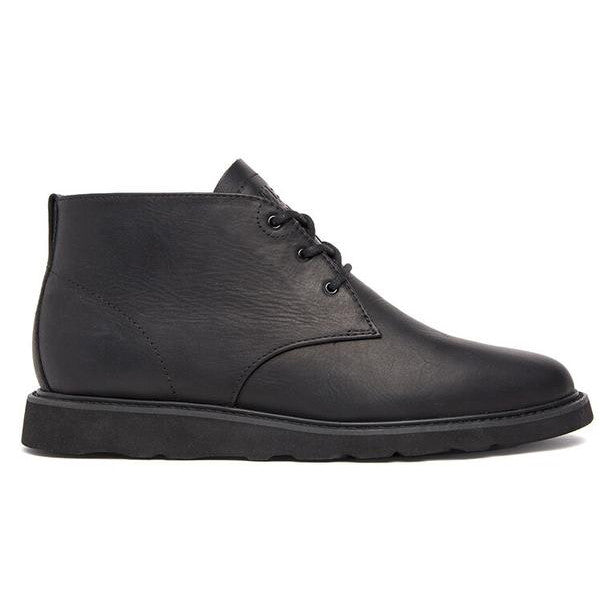 Clae - Strayhorn Vibram Shoes - Black Full Grain Leather