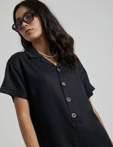 Afends - Kokomo Hemp Playsuit - Black