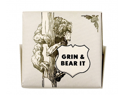 Mens Society - Bar of Soap 'Grin & Bear it'