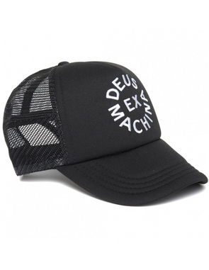 Deus Ex Machina - Circle Logo Trucker - Black