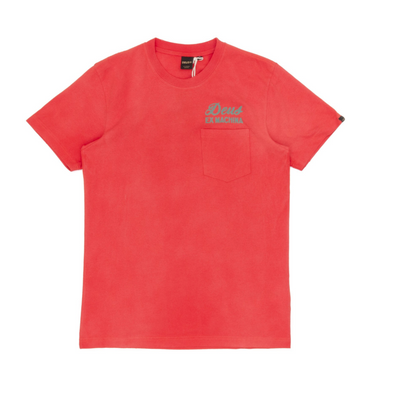 Deus Ex Machine - Sunbleached Impermanence Tee - Molten Lava Red