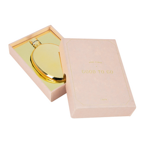 Mens Society - Gold Oval Flask