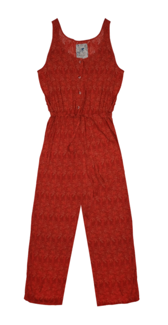 Pukas - Buttons Jumpsuit - Red Palms