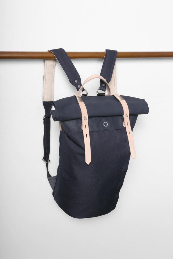 Stighlorgan - Rori - Rolltop Laptop Backpack - NAVY