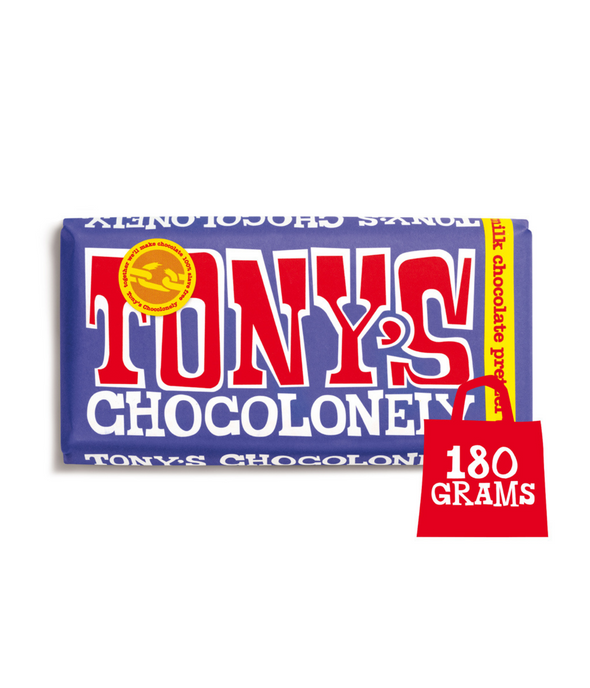 Tony Chocolonely - Dark Milk Pretzel & Toffee Chocolate 180g