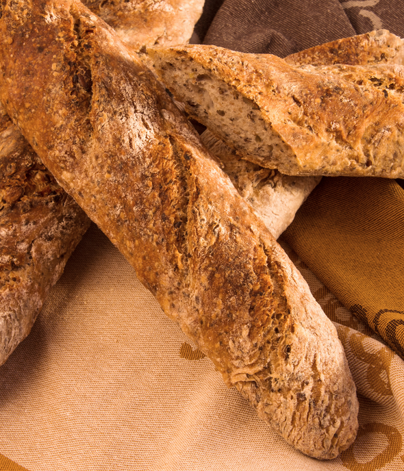"Seeded Baguette 18"" - Hobbs House Bakery (order before 11am for next day)"