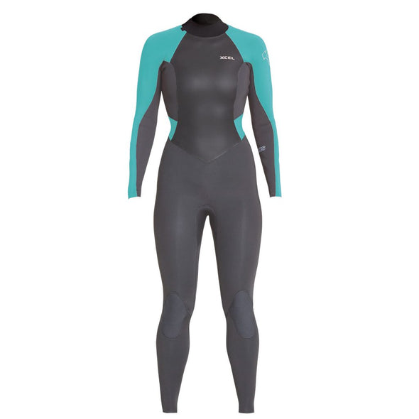 Xcel - Women's Axis Back Zip Wetsuit 4/3mm - Graphite
