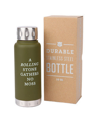 Durable Stainless Steel Bottle - 10oz