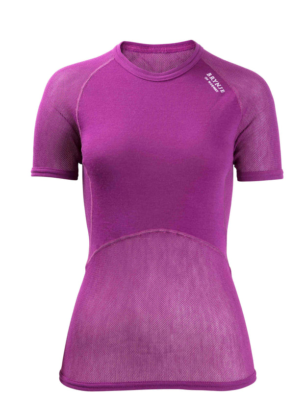 Brynje Womens Wool Thermo light T-shirt Violet