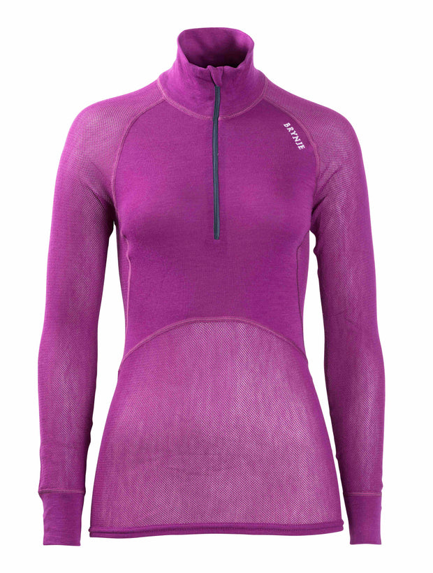 Brynje Womens Wool Thermo Light Zip Polo