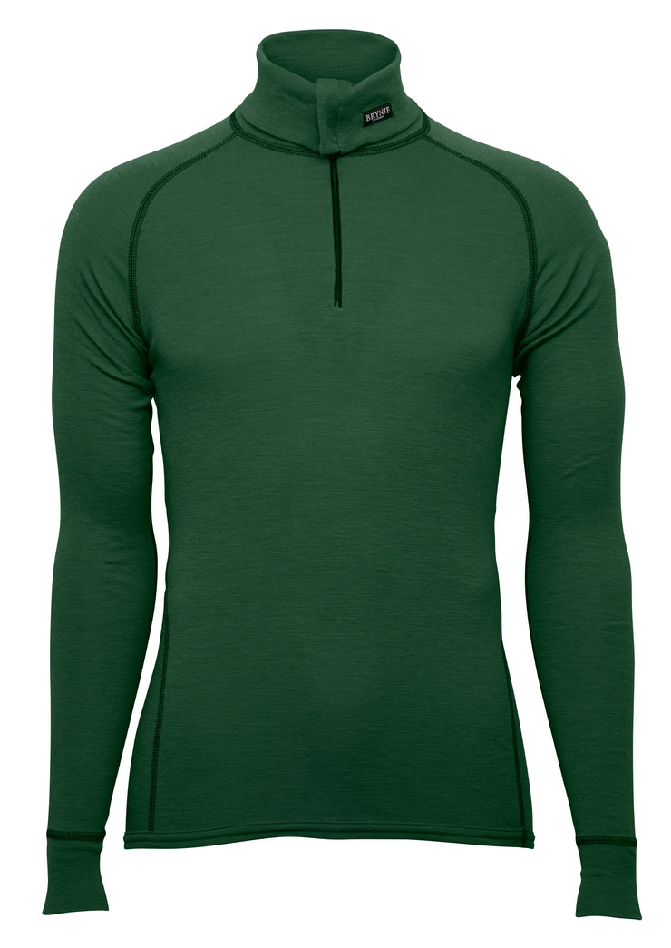 Brynje Classic Wool Zip Polo Green