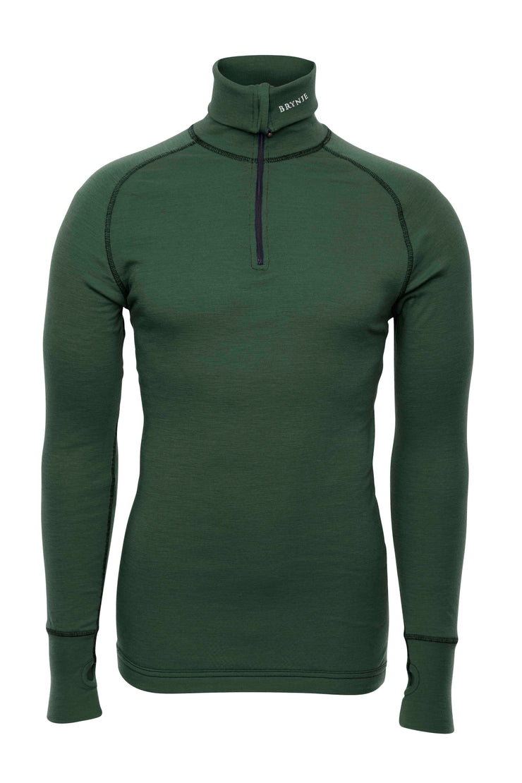 Brynje Arctic Zip Polo Green