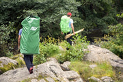 Bergans Ally Folding Canoe 18' Drk Green in a backpack