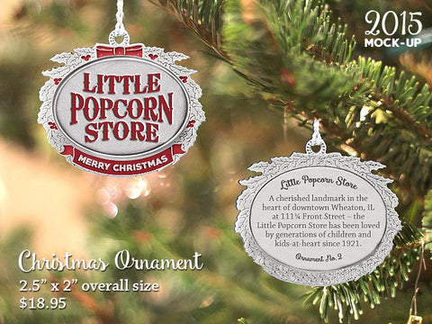 Little Popcorn Store Pewter Ornament - Version One