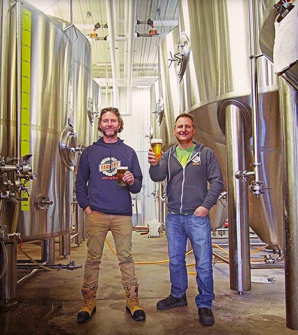 Chris and Lawrence at Farmery Estate Brewery