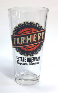 20 oz - Pint Glass - Wheel