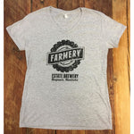 Gals V-Neck Tee - Light Heather Grey