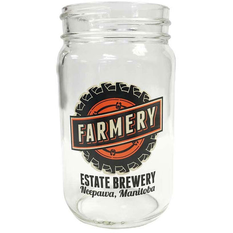 Mason Jar Glass - Tire- 16oz