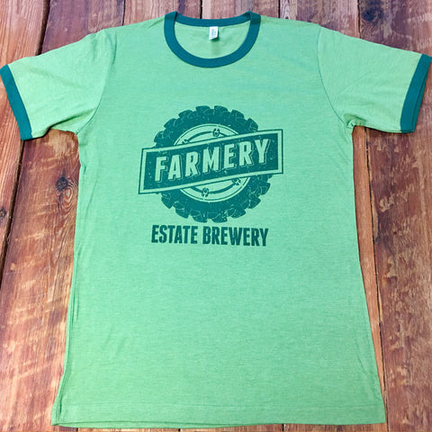Guys Short Sleeve Ringer Tee - Green