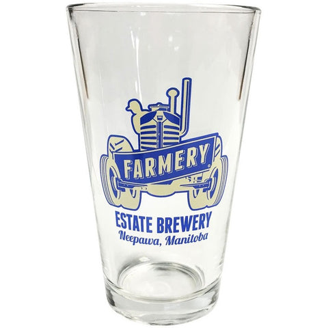 Farmery Tractor Pint Glass