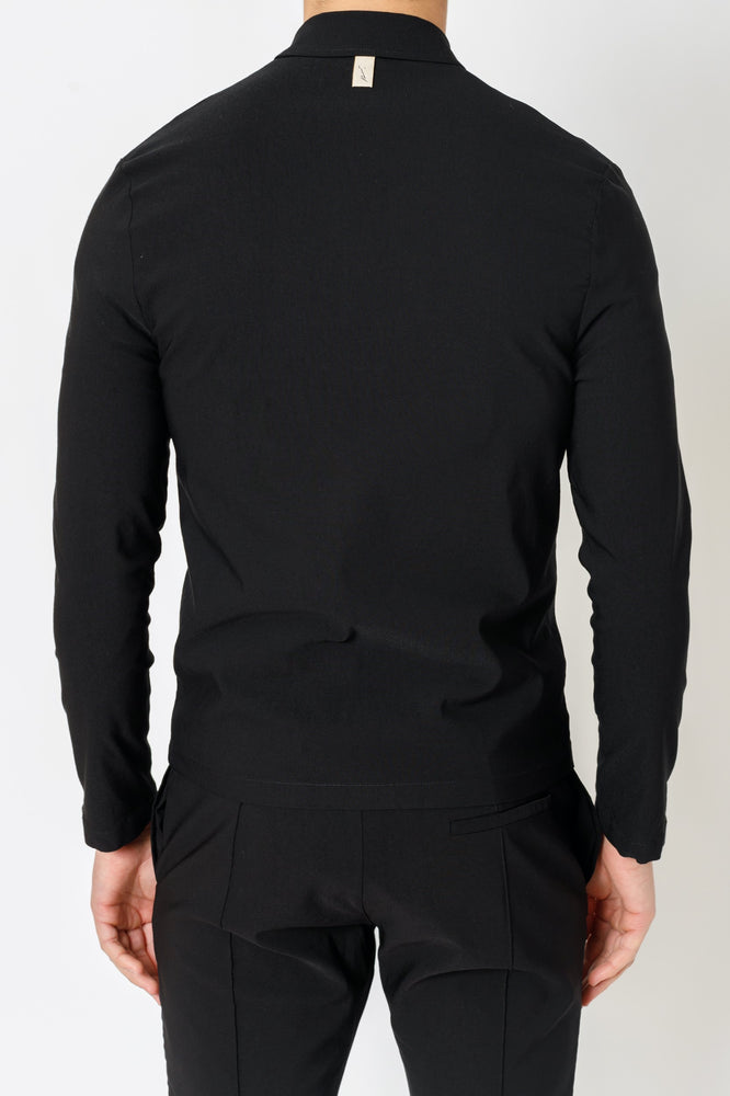 Black Salvatore Slim Fit Shirt - P r é v u . S t u d i o .