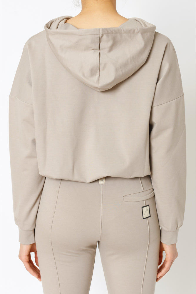 Load image into Gallery viewer, Women's Beige Aruba Oversized Hoodie - P r é v u . S t u d i o .