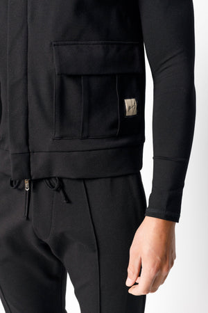 Load image into Gallery viewer, Black Belmont Slim Fit Gilet - P r é v u . S t u d i o .