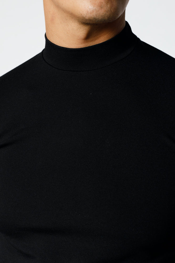 Load image into Gallery viewer, Black Belmont Turtle Neck Long Sleeve Top - P r é v u . S t u d i o .