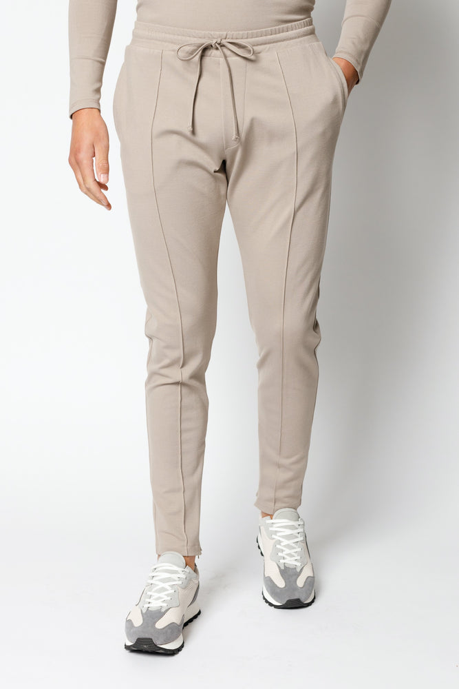 Load image into Gallery viewer, Beige Belmont Slim Fit Jogger - P r é v u . S t u d i o .