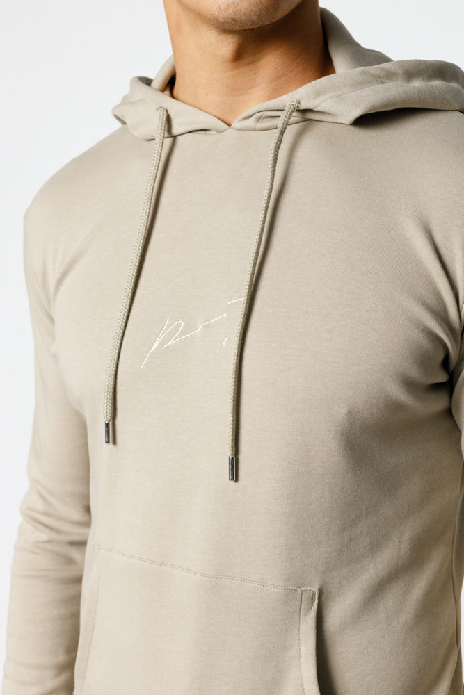 Load image into Gallery viewer, Stone Signature Logo Embroidered Hoodie - P r é v u . S t u d i o .