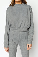 Women's Black Capillano Jacquard Regular Fit Sweatshirt - P r é v u . S t u d i o .