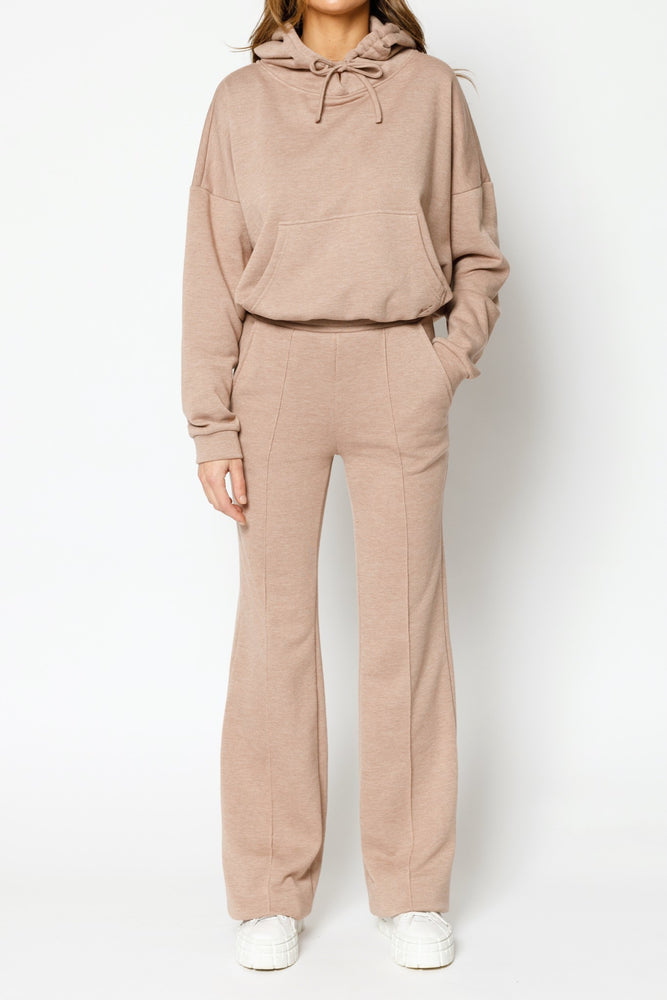 Load image into Gallery viewer, Women's Tan Granville Wide Leg Trousers - P r é v u . S t u d i o .