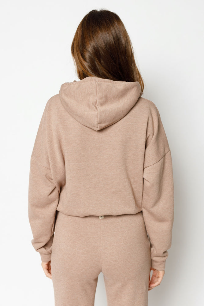 Women's Tan Granville Regular Fit Hoodie - P r é v u . S t u d i o .