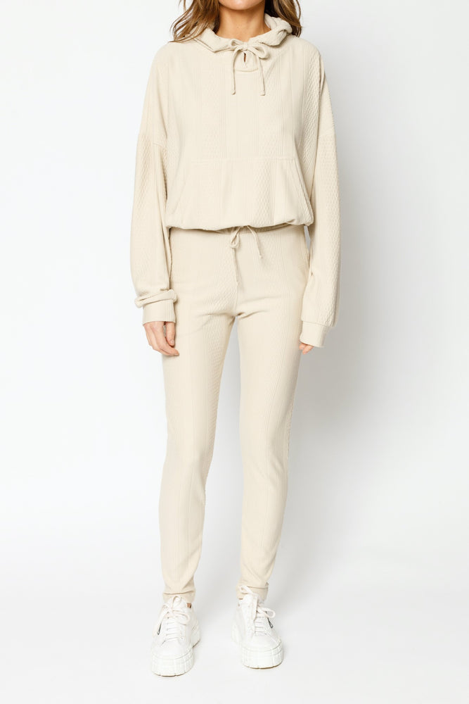 Load image into Gallery viewer, Women's Tan Broad Street Regular Fit Hoodie - P r é v u . S t u d i o .